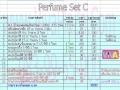 ชุดเริ่มต้นธุรกิจขายน้ำหอม Perfume Set C (pf-1) ราคาเพียง 3730 เ